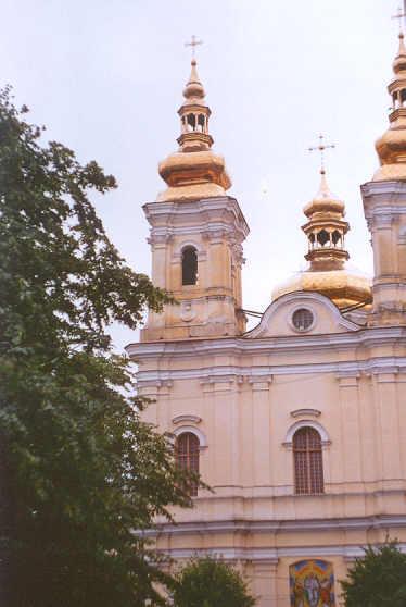 Kościół Dominikanów w Winnicy na Ukrainie (obecnie cerkiew) Fundowany przez Michała Grocholskiego - syna Joba Ludwika. Lipiec 2003 r. Fot. Henryk Grocholski.