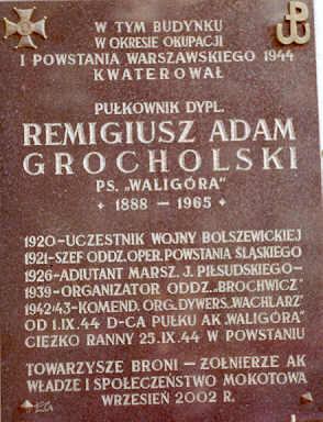Tablica na ul. Puławskiej w Warszawie