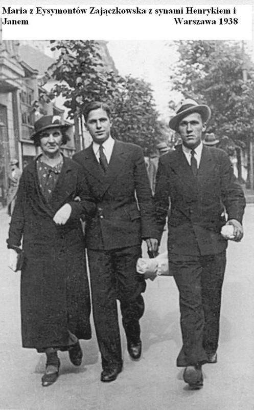Maria Zajączkowska z synami